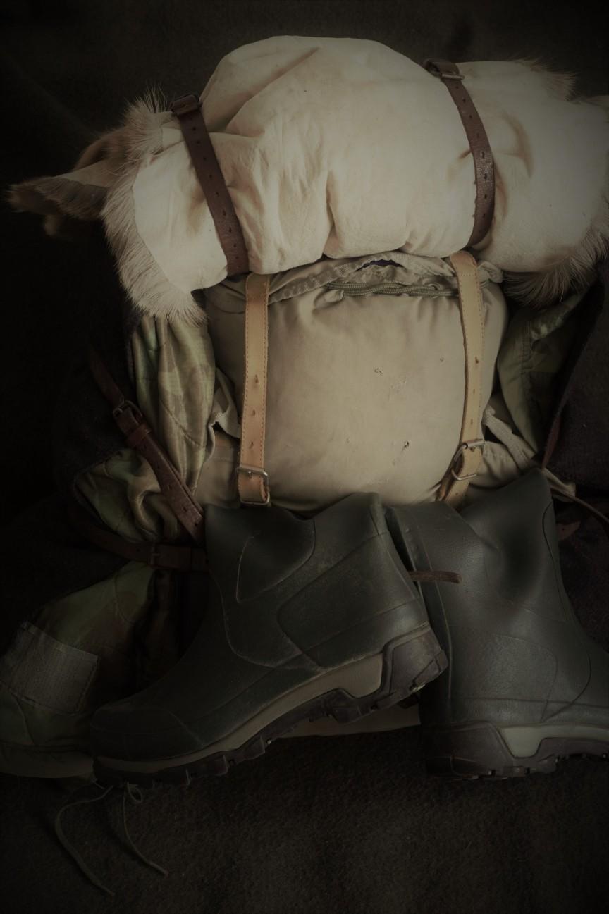 Plecak i kalosze