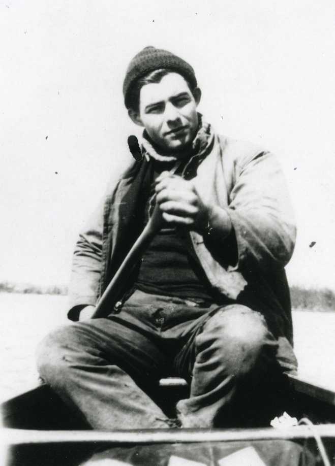 author-ernest-hemingway-spent-much-of-his-youth-exploring-northern-michigan-here-he-seen-canoeing-as-a-young-man-682d63af1163b589